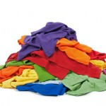 Heap of colorful clothes